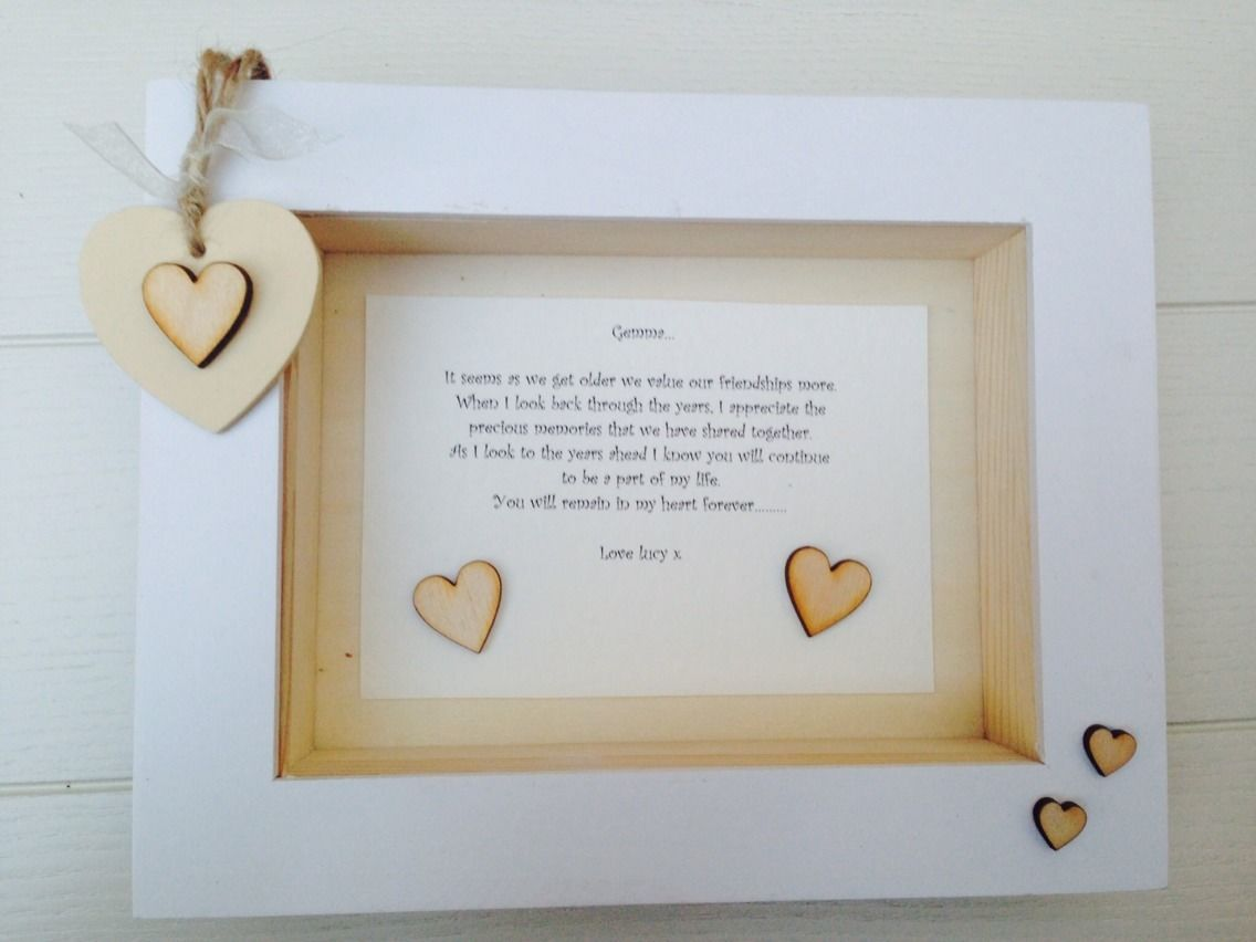 Shabby Personalised Chic Box Frame Daughter Who Is A Bridesmaid ...