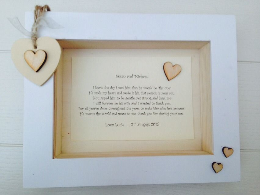 Shabby Personalised Chic Box Frame Present Mother Father Of The ...
