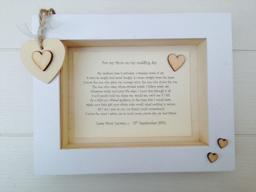 Wedding Gifts For Bride Uk : ... Personalised Chic Box Frame Present Mother Of The Bride Gift Wedding