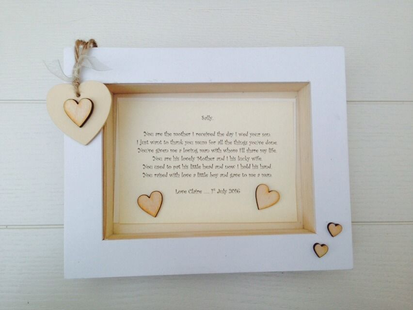 Shabby Personalised Chic Box Frame Present Mother Of The Groom From ...