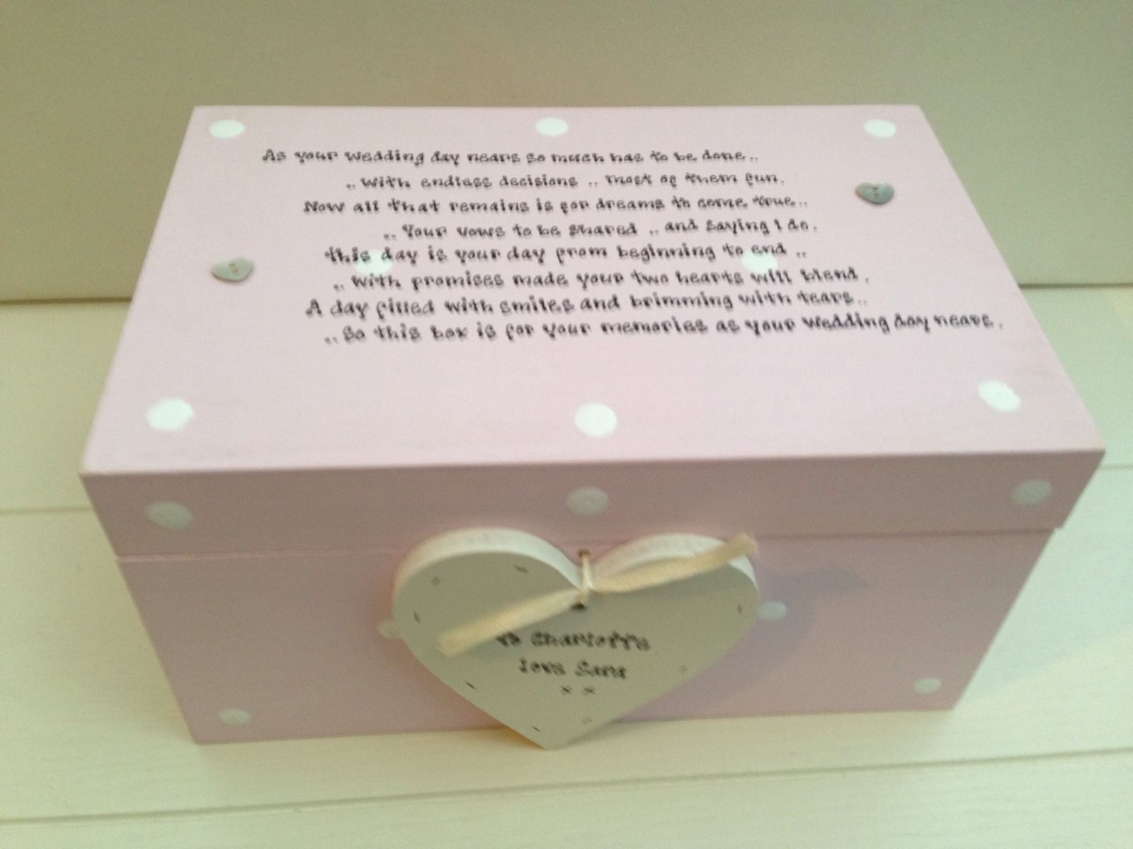 Extra Large Wedding Gift Box : Shabby Personalised Chic Bride To Be EXTRA LARGE Gift Memory Box