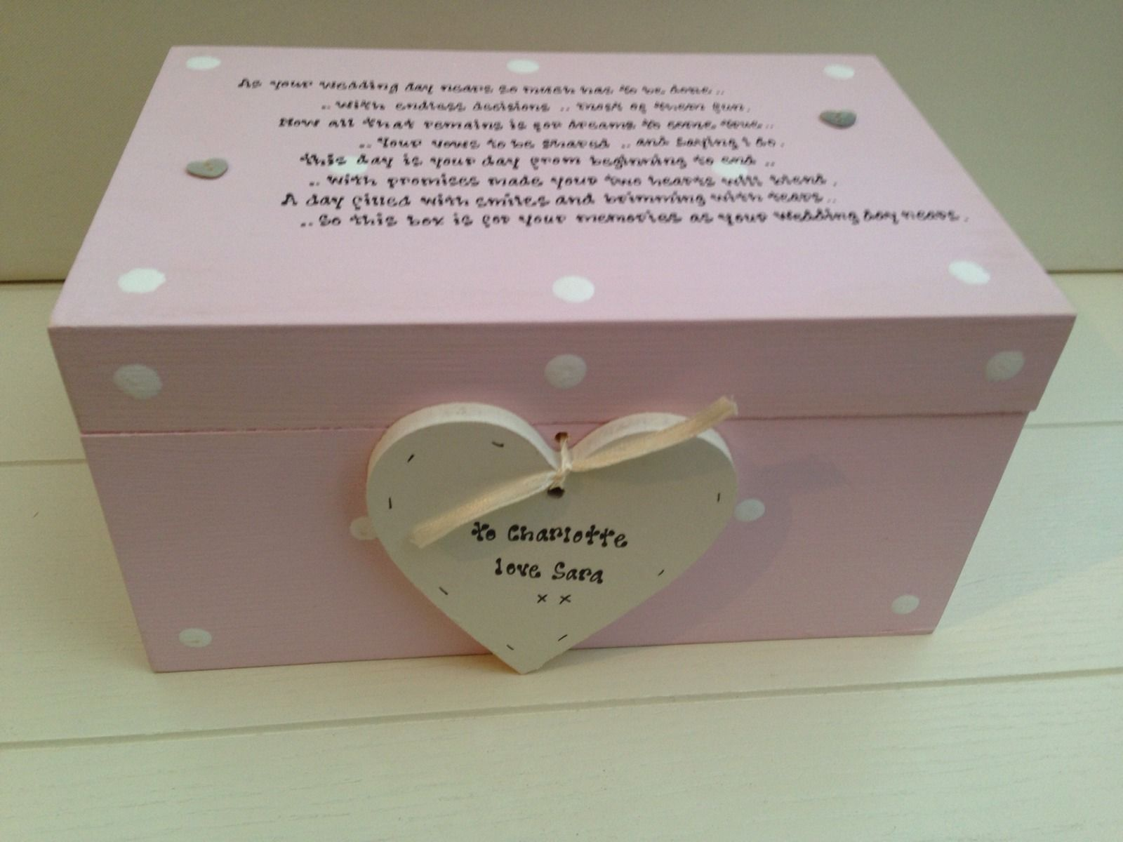 Extra Large Wedding Gift Box : Shabby Personalised Chic Bride To Be Extra Large Gift Memory Box 441 P