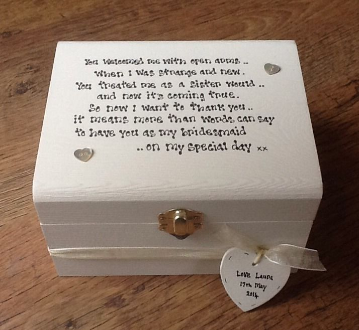 Shabby Personalised Chic Bridesmaid Sister To Be Sister In Law