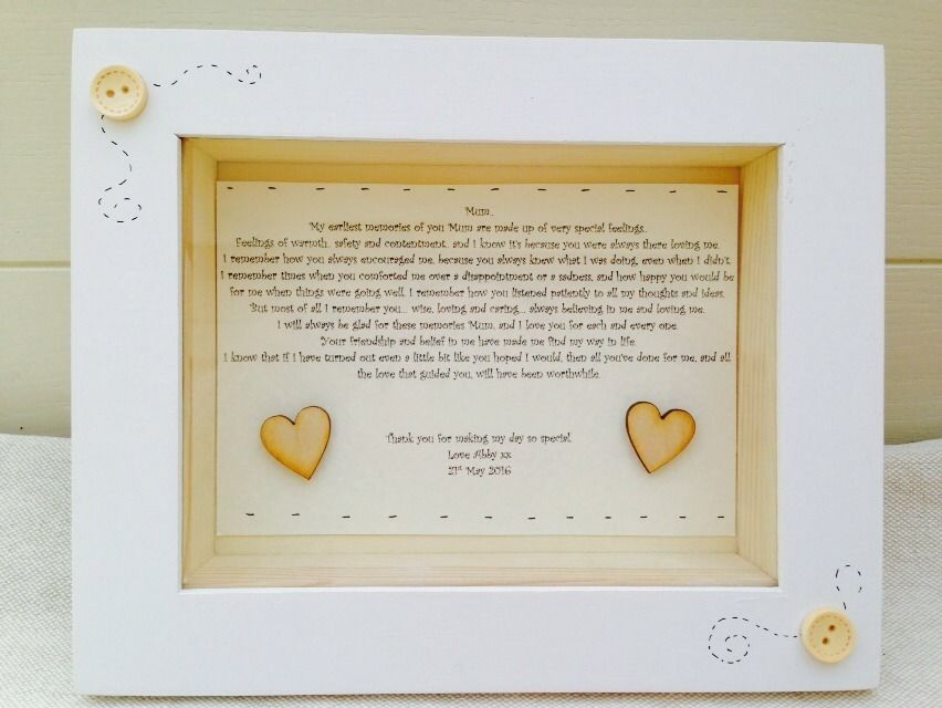 shabby personalised chic gift box frame present mother of the bride