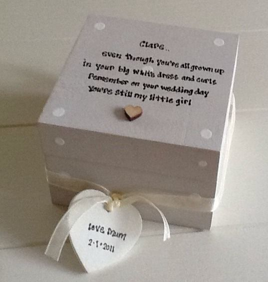 Shabby Personalised Chic Gift For Bride On Her Wedding Day From Mum