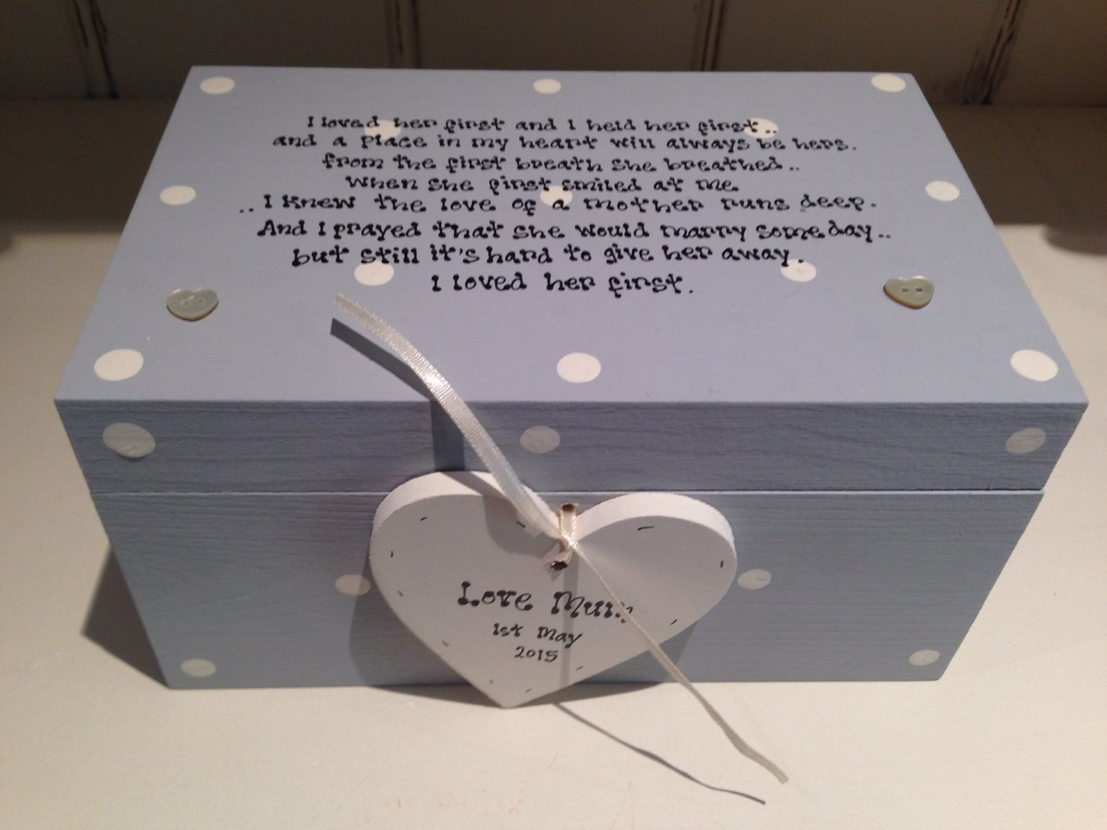 Personalised Wedding Gift For Daughter : Shabby Personalised Chic Gift For Daughter On Wedding Day Jewellery ...