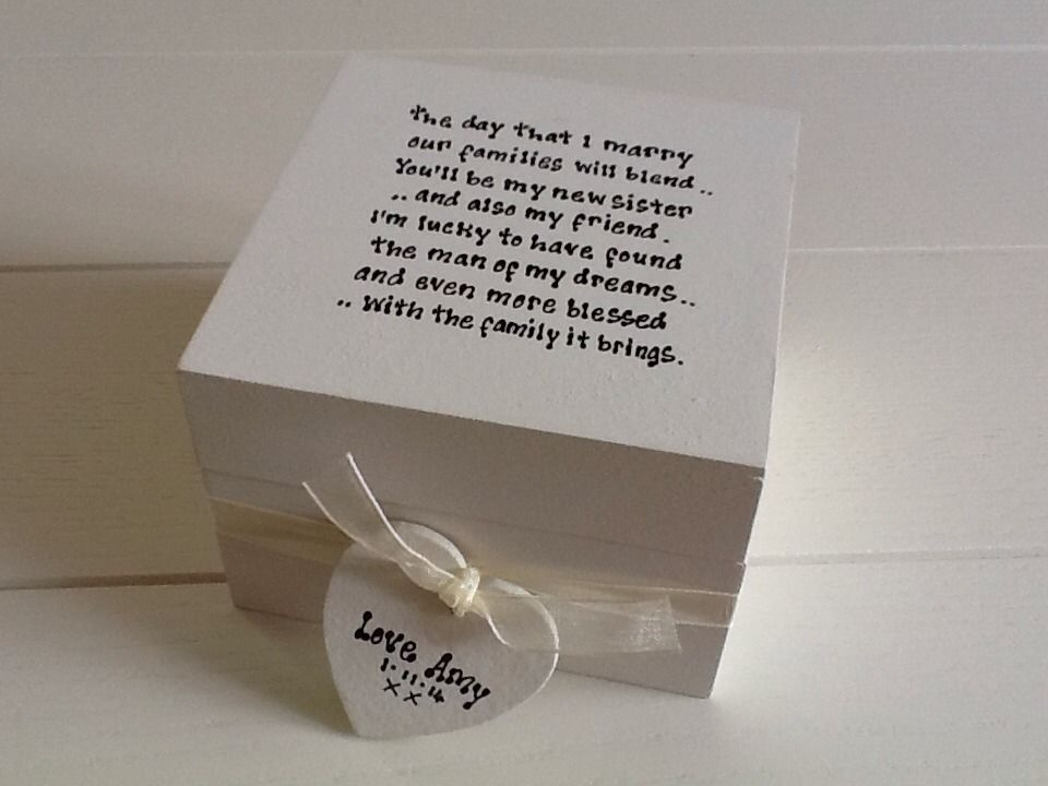Wedding Gifts For Sister Bride : ... Chic Gift For Sister In Law From Bride.. Wedding Trinket Box