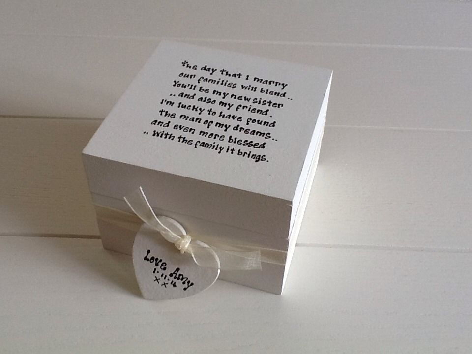 Wedding Gifts For Sister In Law: Shabby Personalised Chic Gift For Sister In Law From Bride