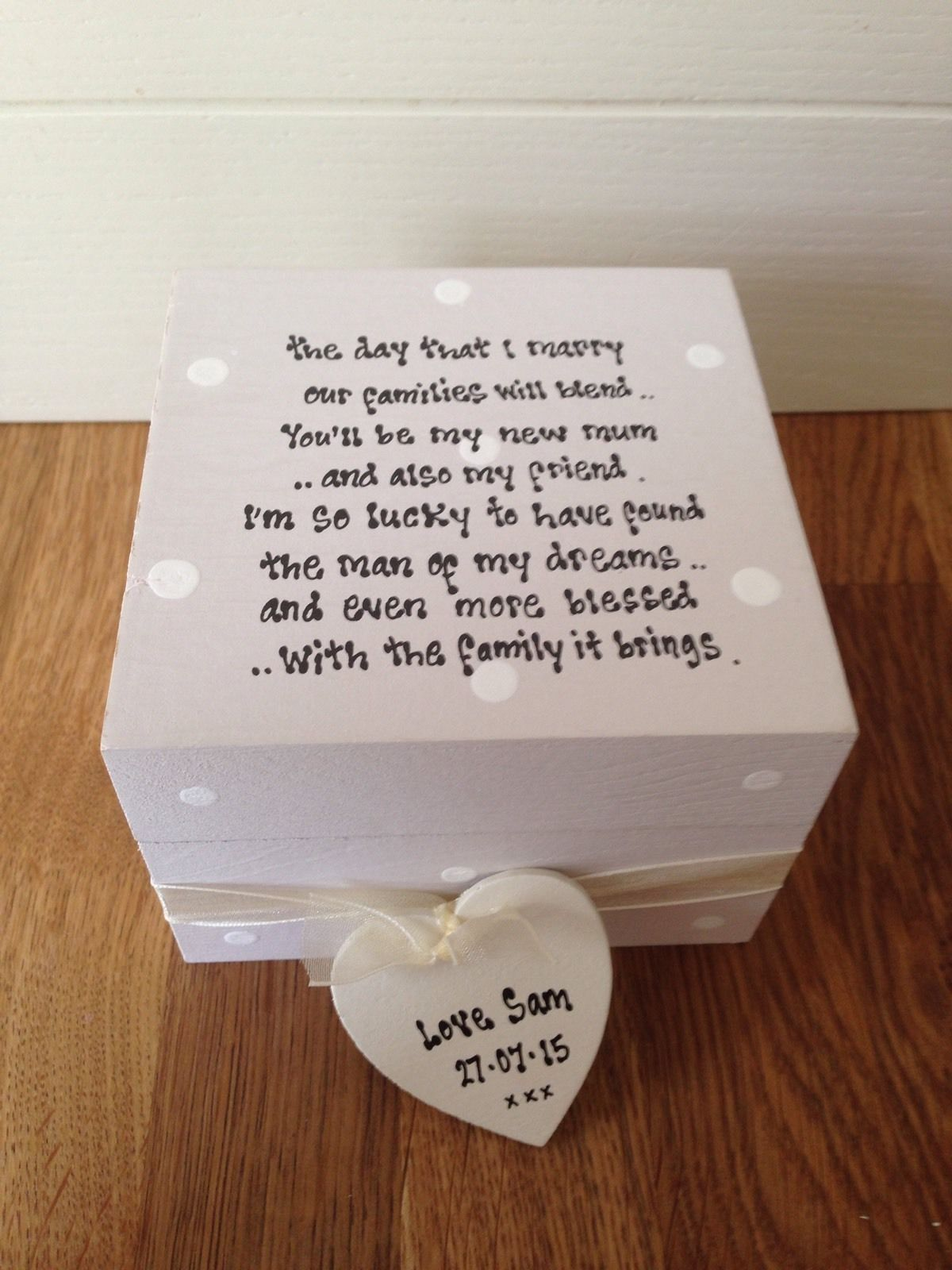 Wedding Gifts For Groom Uk : Shabby Personalised Chic Gift Mother Of The Groom Or Bride Trinket Box ...