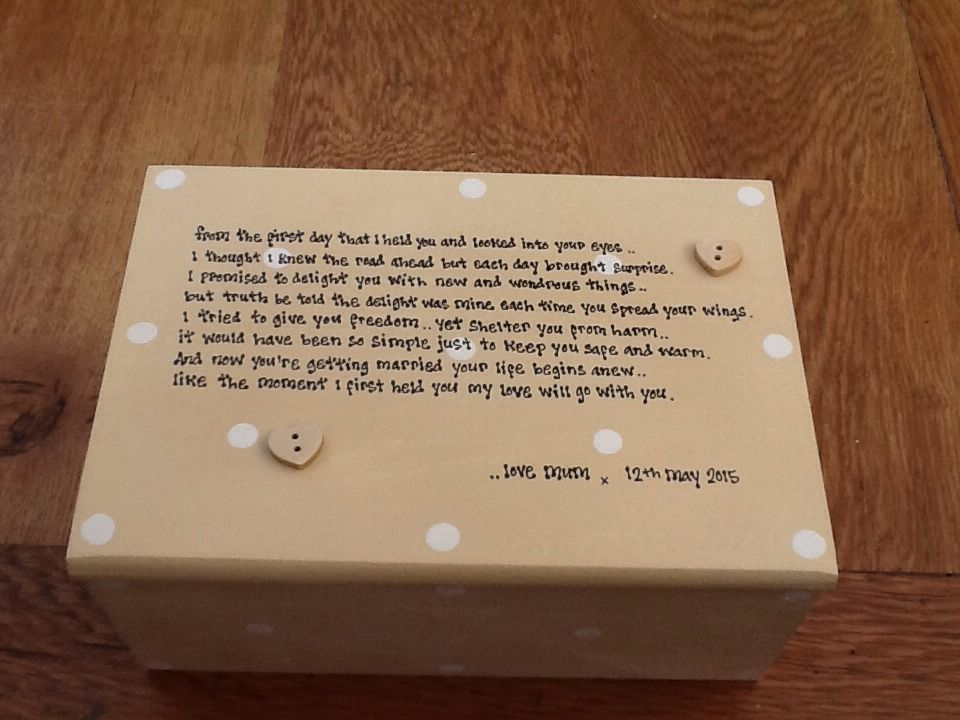 Wedding Gift For Our Daughter : ... Personalised Chic Jewellery Box Gift For Daughter On Her Wedding Day