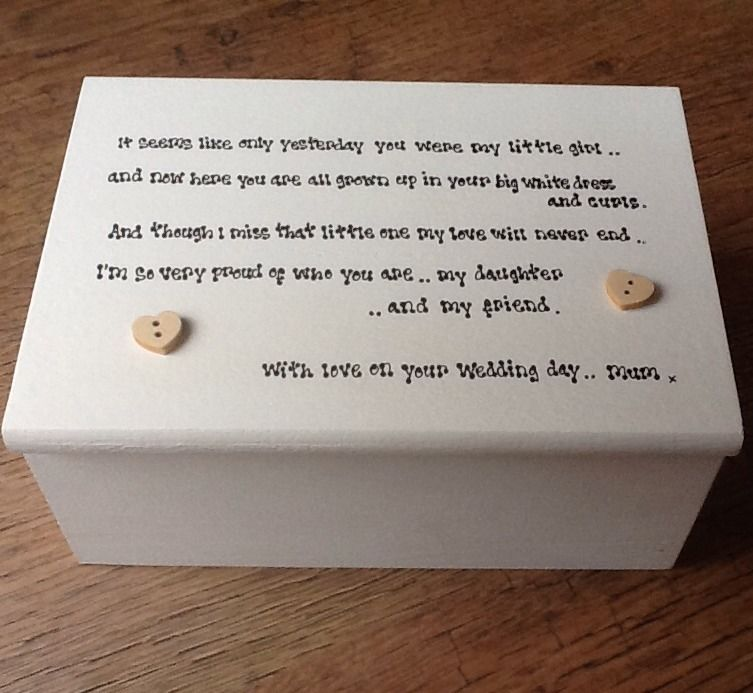 Wedding Gifts For Bride Uk : ... Chic Jewellery Box Mother Of The Bride Gift For Her Daughter