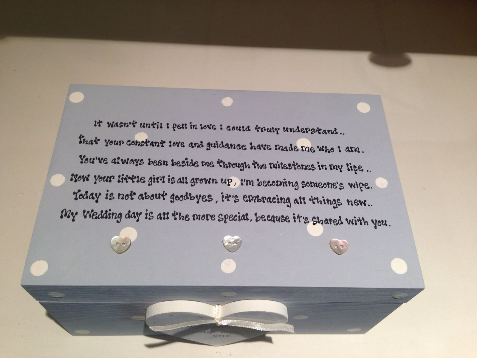 Shabby Personalised Chic Jewellery Box Mother Of The Bride Present Wedding Gift