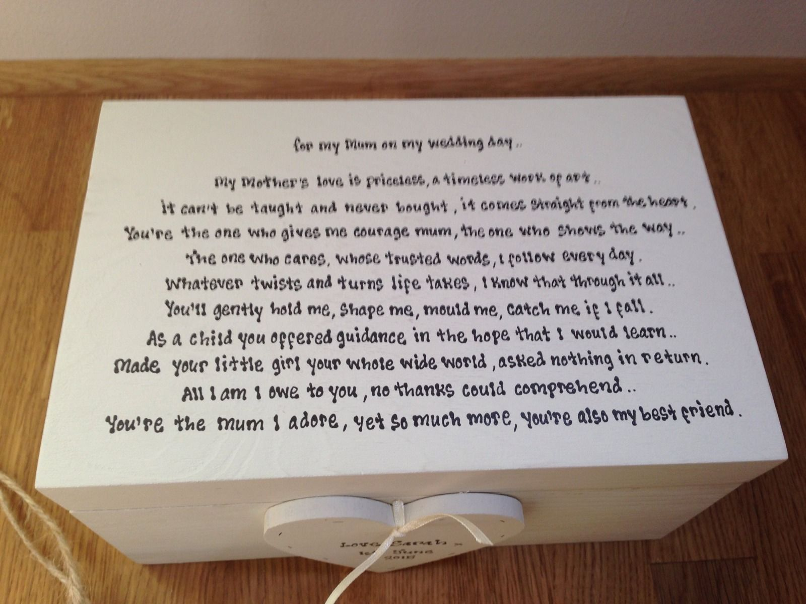 Shabby Personalised Chic Mother Of The Bride Wedding Box Gift Set ...