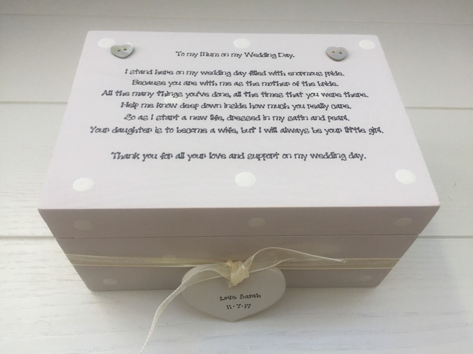 Wedding Keepsake Gifts Uk : ... Special Mother Of The Bride Gift Keepsake Box Wedding - 252733393774