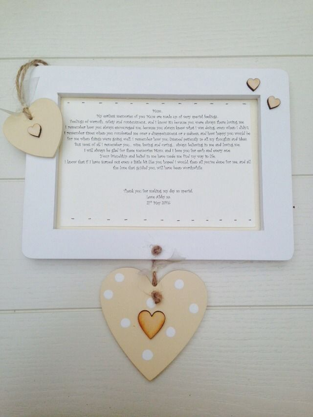 shabby personalised gift chic mum mother of bride present wall