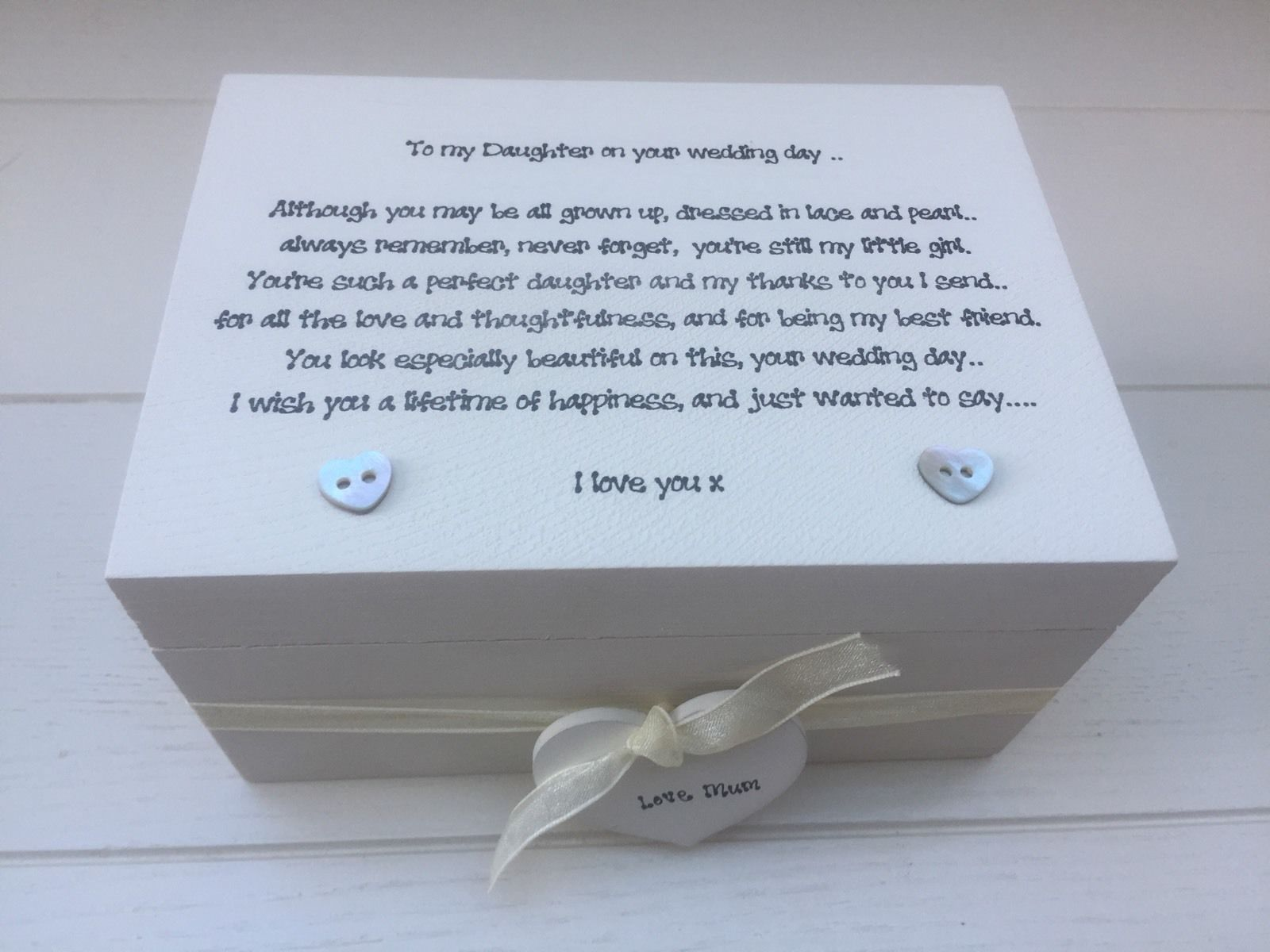 Shabby Personalised Chic Daughter On Her Wedding Day Gift Wedding