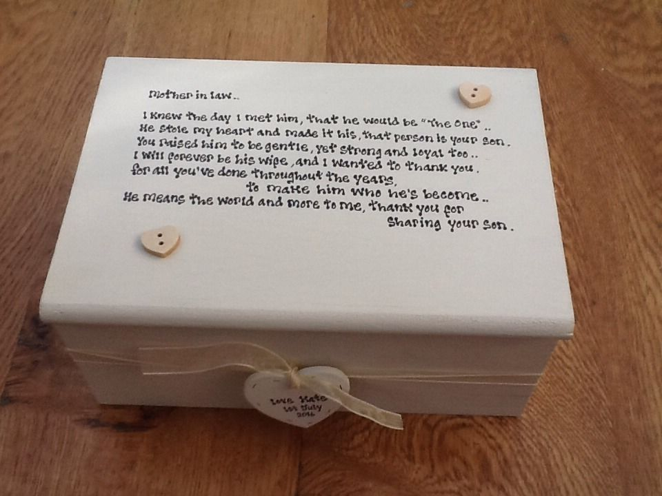 Shabby Personalised Chic Jewellery Box Mother Of The Groom Gift Mother In Law